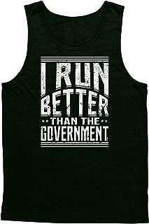 Blittzen Mens Tank Top I Run Better Than The Government
