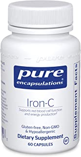 Pure Encapsulations Iron-C | Iron and Vitamin C Supplement to Support Muscle Function, Red Blood Cell Function, and Energ...