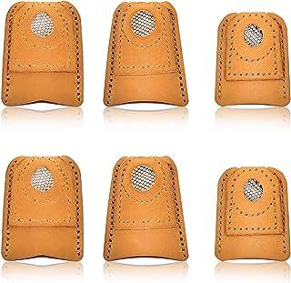 SUPVOX Ditale per Cucire Dito Protezione in Metallo Protector Cucito Quilting Craft Accessori Strumenti per Cucire Fai da Te