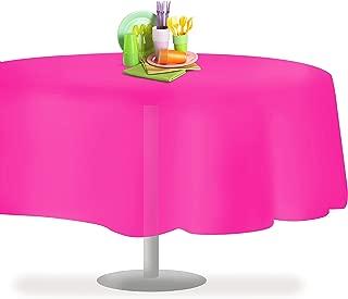 Hot Pink 12 Pack Premium Disposable Plastic Tablecloth 84