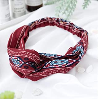 Women Headband Vintage Cross Knot Elastic Hair Bands Hairband Hair Accessories 3