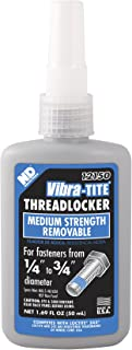 Vibra-TITE 121 Medium Strength Removable Anaerobic Threadlocker, 50 ml Bottle, Blue