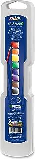 Prang, DIX08000, Half Pan Watercolor Set, 8 Colors/Set, Assorted, with No.9 Paintbrush, Sold As 1 Set