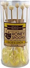 product image for Melville Candy Ginger & Lemon Honey Spoons, 8 Lollipop Stirrers, Complements Gourmet Treats and Beverages - Coffee, Tea, Cocoa, Hot Chocolate, Cocktails - Perfect for Holidays and Gifts
