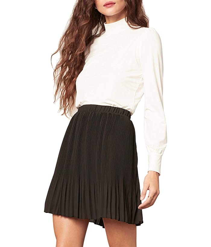 Pleat Skirt Black