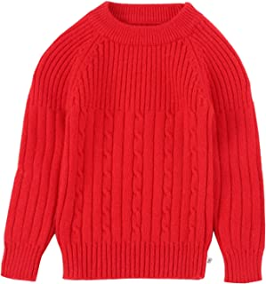 LAOHAI Autumn and Winter Girls Knitting Round Neck Natural Cashmere Pullover Sweater