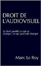 Droit de l'audiovisuel: Le droit positif, ce qui va changer, ce qui pourrait changer (French Edition)