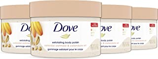 Dove Scrub for Silky Skin Oatmeal & Calendula Oil Body Scrub Exfoliates & Gives Lasting Nourishment 10.5 oz 4 Count