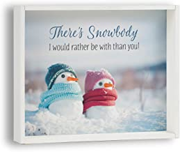 product image for Imagine Design Snow Body I Would Rather Be with Than You Snowflake Box Plaque, Multi