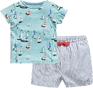 Fiream Boys Cotton Clothing Sets Summer Shortsleeve t-Shirts and Shorts 2 Pieces Clothing Sets