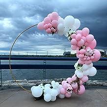 Okrąg Łuk ślubny, Półka Kwiatowa Dekoracja Rekwizyty - Urodziny Babyshower Balloon Balloon Iron Ring Stand Arch Ramka,Gol...