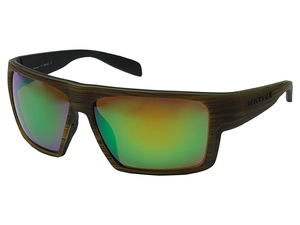 Native Eyewear Eldo (Wood/Black/Black/Green Reflex) Sport Sunglasses