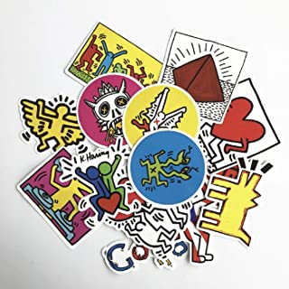 14Pcs/Lot Keith Haring Stickers for Decal Snowboard Laptop Luggage Car Fridge Car- Styling Sticker Pegatina