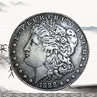 MarshLing 1888 Antique Liberty One-Dollar Coin - Great US American Coins- USA Original Pre Morgan Uncirculated Condition-It's Handmade Crafts Perfect Quality