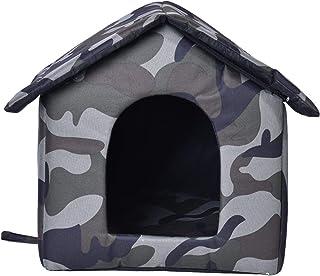 Domek dla kotów na zewnątrz, na zimę, do użytku na zewnątrz, w domach dla kotów, ze zdejmowaną matą, do użytku na zewnątr...