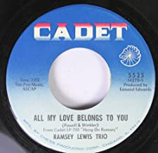 Ramsey Lewis Trio 45 RPM All My Love Belongs To You / A Hard Day's Night