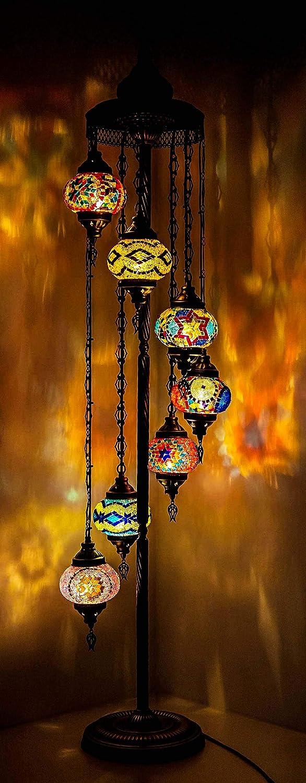 Wishicious Super intense SALE – Handmade Turkish Lamp Direct stock discount Mosaic M Floor Moroccan
