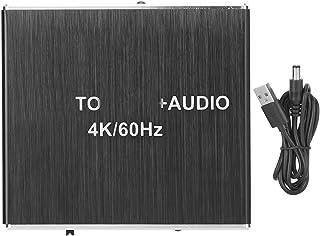 Socobeta Extractor ljuddelare lättanvänd HDMI 2.0 med USB-kabel ABS multifunktion 4K/60Hz stöd för AC3/DTS/LPCM