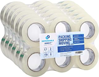 Industrial Grade Clear Packing Tape (36 Rolls) - 110 Yards per Roll - 2