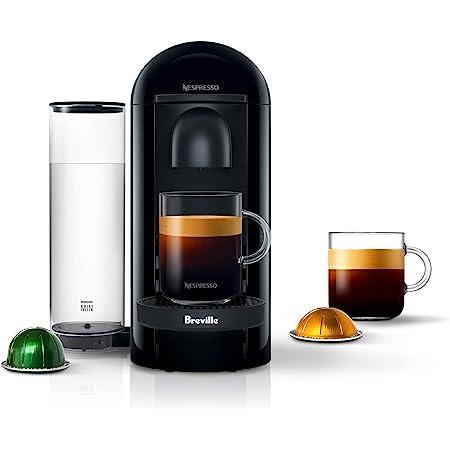 Nespresso BNV420IBL VertuoPlus Espresso Machine by Breville, Ink Black