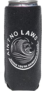 KODI 12oz Slim Can Cooler | Glitter | Ain't No Laws When You're Drinking Claws | White Claw Insulator (1 Pack- Black)