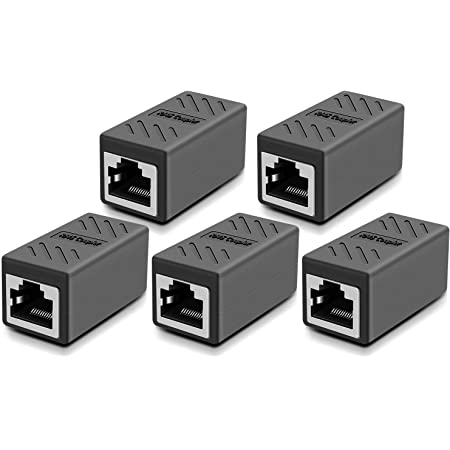 RJ45 Coupler,1 Pack Cat7 Cat6 Cat5e 8P8C Ethernet LAN Cable Connector,Network Keystone Extender Adapter with Thunder Protection