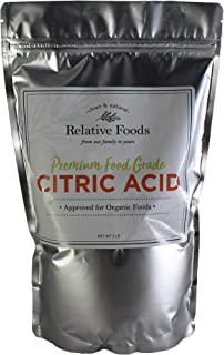 Relative Foods, Food Grade Citric Acid, 2-Pounds, Packaged in our allergen free facility