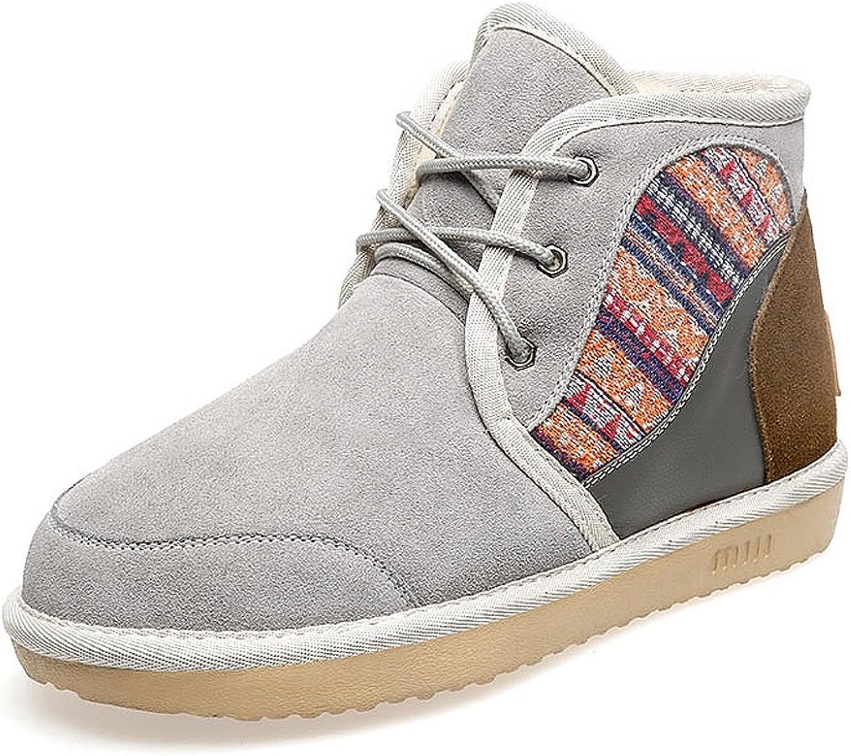 LI SHI XIANG SHOP Weibliche Schneestiefel Student Stiefel Winter Baumwolle Schuhe (Farbe   Grau, gre   US 7\UK 6\EUR 39)