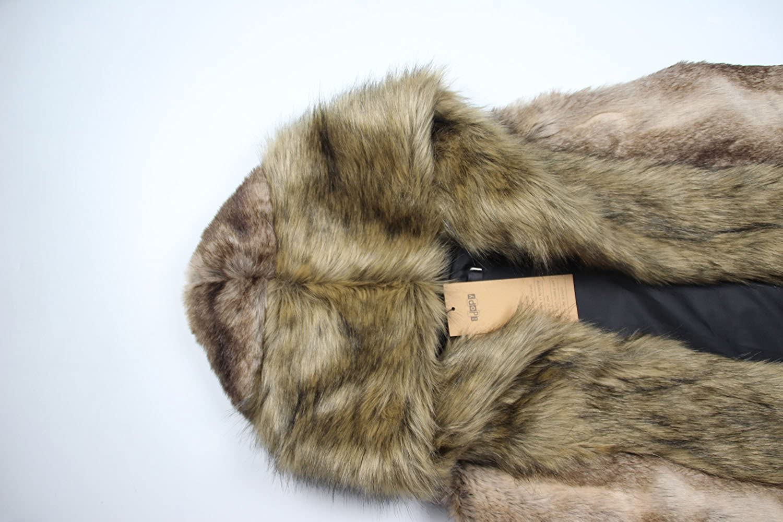 Idopy Men`s Luxury Faux Fur Hoodie Coats Sleeveless Jacket Vest With Hood