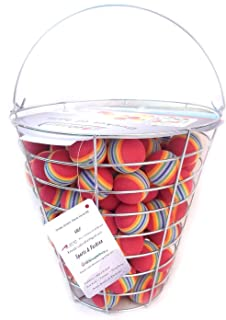 A99 Golf Rainbow Foam Ball Practice 50 Pcs with Bucket