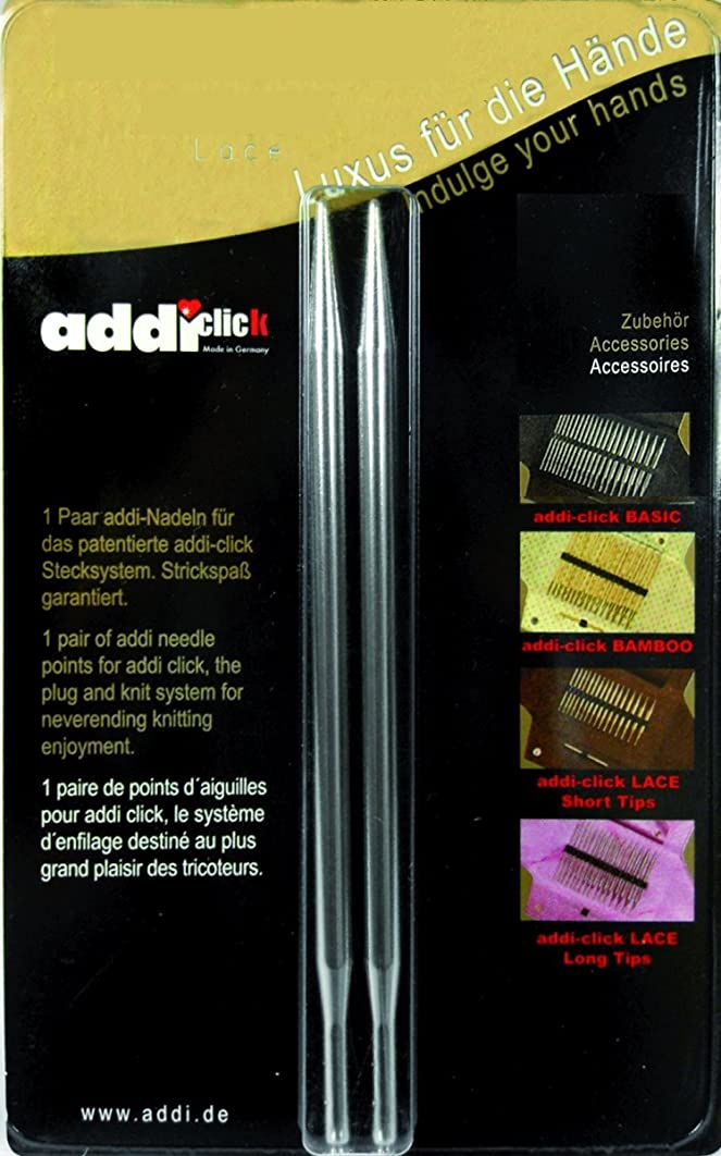 addi Click Interchangeable Knitting Needle Tips Standard Rocket (Long) Lace 5 inch (13cm) US 11 (8.0mm)