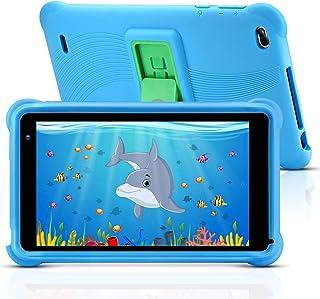 Tablet qunyiCO Android 10.0 GO, para niños, 7 Pulgadas 32GB Cámara WiFi 2GB RAM Pantalla táctil HD 1024 * 600 Funda a Prueba de niños Control Parental Aprendizaje Google Certified Playstore (Azul)