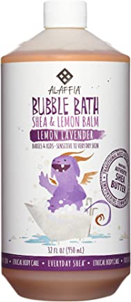 Alaffia, Everyday Shea Bubble Bath for Babies & Kids, Gentle for Sensitive to Very Dry Skin Types, Lemon Lavender, Ethically Traded, Non-GMO, 32 oz (FFP)