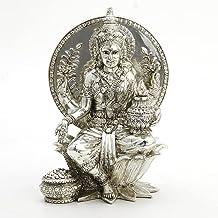 Veronese Design 8 1/4 inch Tall Seated Lakshmi Hindu Goddess of Wealth and Prosperity Resin Hand Made Figurine Home Decor ...