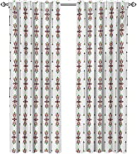 shenglv Ethnic, Window Treatments Curtains Valance, Traditional Native American Tribal Ornaments and Arrows Vintage Geometric Pattern, Curtains for Bedroom, W96 x L108 Inch, Multicolor