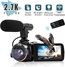 Video Camera Camcorder Digital YouTube Vlogging Camera,Nycetek Camera Recorder Ultra HD 2.7K 30FPS 30MP 3.0 Inch WiFi Transmission 270° Rotation Screen16X Digital Zoom Camcorder with Remote Control