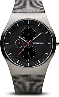 BERING Time 11942-372 Mens Classic Collection Watch with Mesh Band and Scratch Resistant Sapphire Crystal. Designed in Denmark.