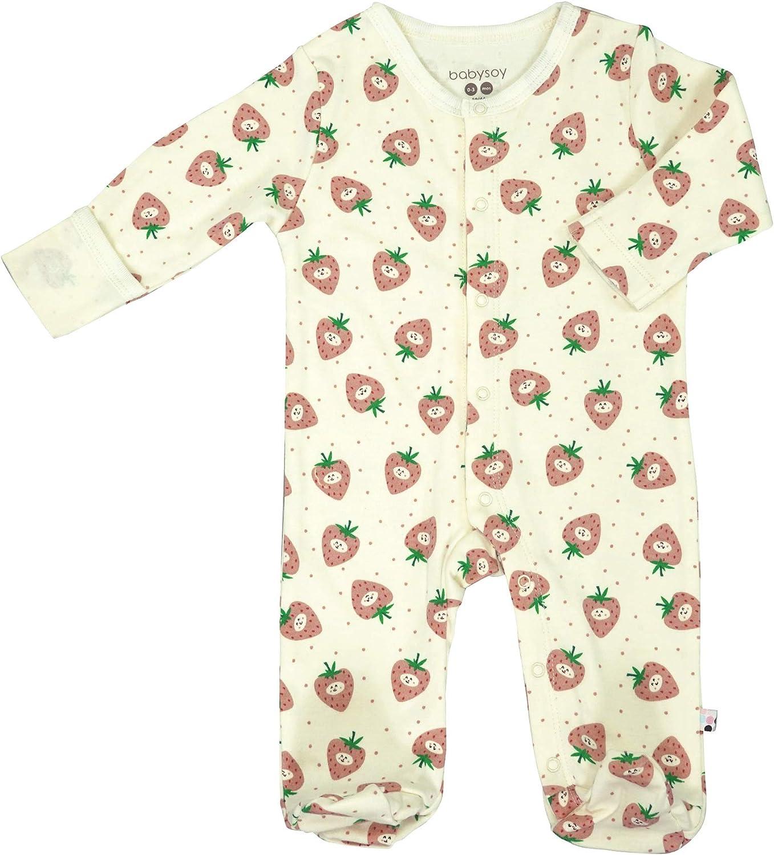 Snap One-Piece Sleeper Babysoy Long Sleeve Soy Footie PJS