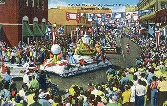 Minneapolis, Minnesota - Aquatennial Parade, Colorful Floats (24x36 Giclee Gallery Print, Wall Decor Travel Poster)