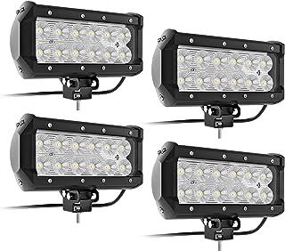 7Inch LED Light Bar TURBO SII LED Work Light Flood LED Lights Off Road Driving Lights Led Pods Fit Jeep Trucks Atv Off Road Lights Boat Lighting Led Backup Light(4 Pack)