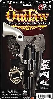 Big Game Toys~Prop Outlaw Pistol Cowboy Toy Cap Gun diecast Pearl Colt 45 Revovler