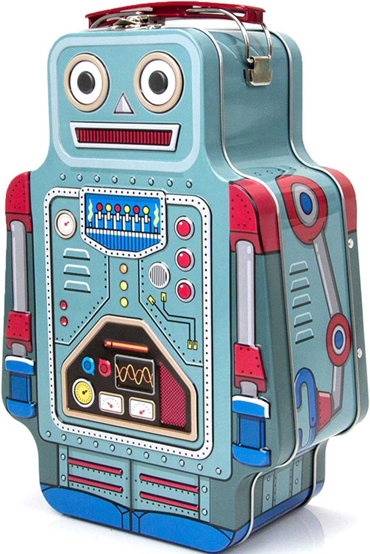DUTUI Fiambrera Robot Sin Sopa, Fiambrera Bento De Frutas para Picnic para Niños Caja De Almacenamiento De Galletas, Asa De Transporte Portátil