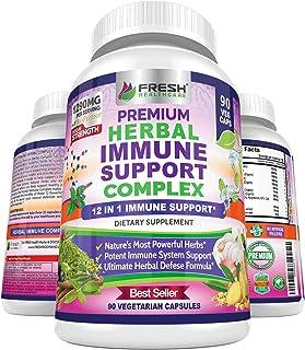 Immune Support Herbal Supplement - Advanced 12 in 1 Daily Immune Support Booster - Elderberry, Ginger, Garlic, Holy Basil,...