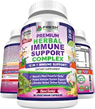 Immune Support Herbal Supplement - Advanced 12 in 1 Daily Immune Support Booster - Elderberry, Ginger, Garlic, Holy Basil,...