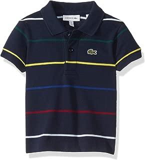 Lacoste Boys Thin Multicolor Stripes Polo Shirt