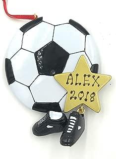 soccer ball christmas ornament