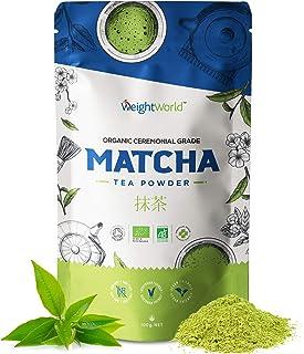 Té Matcha Orgánico Ceremonial Japones | Matcha Tea 100 gr, Polvo de Té 100% Natural, Detox Adelgazante, Aumenta Energía, M...
