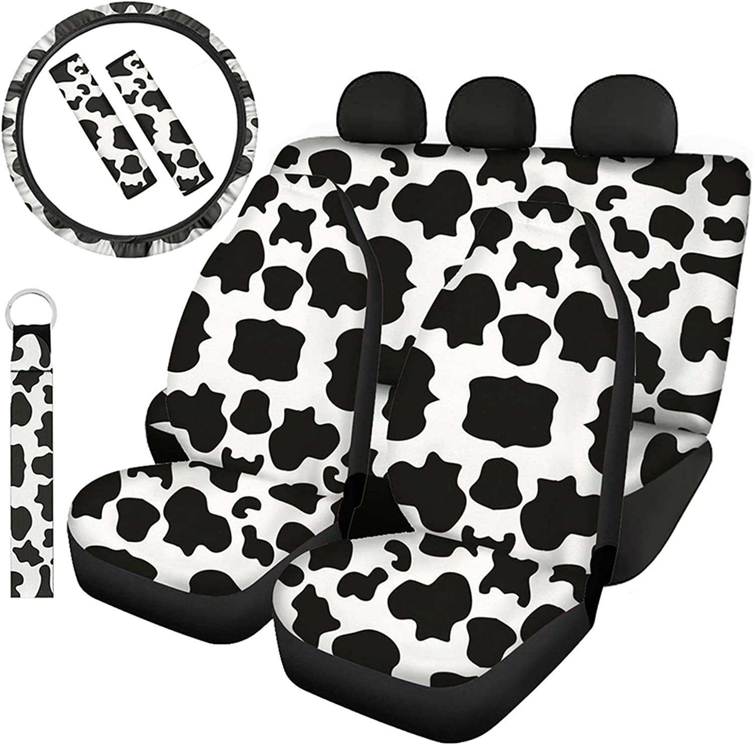 Full Seat Covers for Cars Comfortable Steering Wheel Cover ...