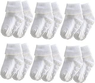 Xiyadun 6 &12 Pairs Infant Toddler Baby Kids Ankle Low Cut Cotton Socks