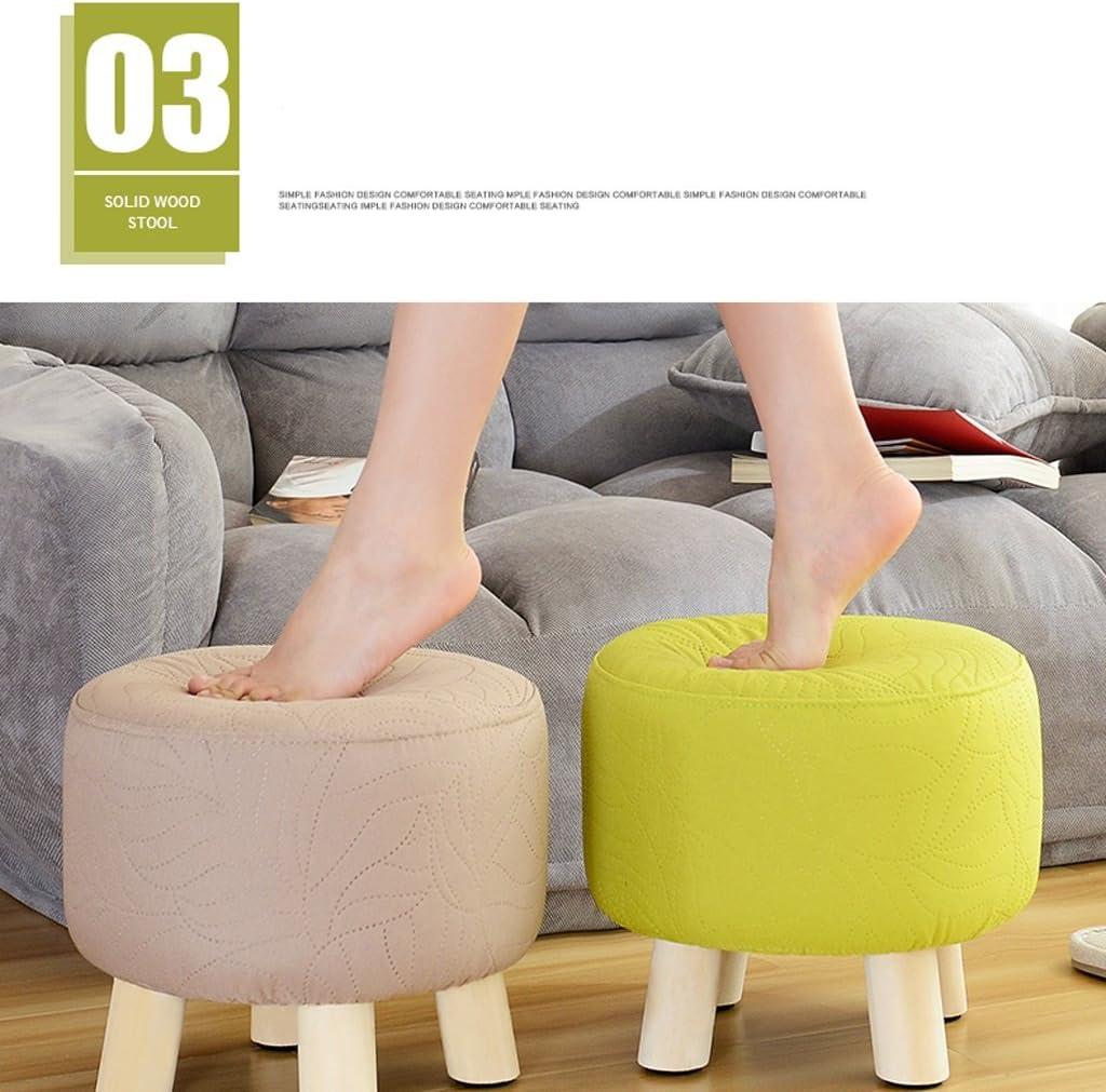 SLL- Tabouret en bois massif salon chaussures tabouret mode créatif maison banc Fauteuils et Chaises (Color : D) D